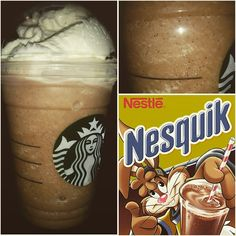 Just added : *NESQUIK FRAPPUCCINO* !! Brings back childhood memories & it tastes amazing!