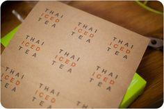 brown paper bag labels