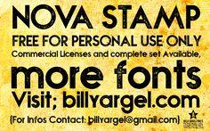 NOVA STAMP Font · 1001 Fonts