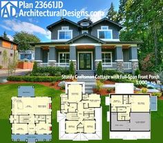 Plan 18293BE: Storybook Bungalow with Bonus Over the Garage ...