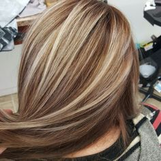 Blonde highlights with brown base <a href=