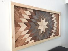 Reclaimed Wood Wall Art, Wooden Sun Burst