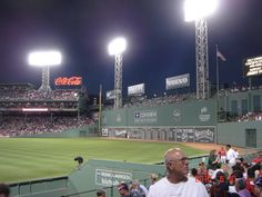 The Green Monster at Fenway Park.