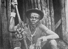Malabo, leader of the Bubi people, about 1919