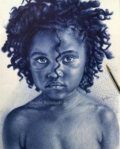 Pen drawing by Enam Bosokah (Boski_pens)