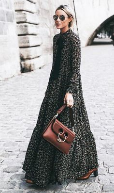 Dark florals are everywhere for fall / maxi liberty dress