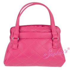 Trendy Dolls - Pink Leather Like Purse for 18 inch Dolls, $12.00 (http://www.mytrendydoll.com/accessories/pink-leather-like-purse-for-18-inch-dolls/)