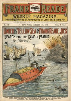 Frank Reade Weekly Magazine No. 53, October 30, 1903, Under The Yellow Sea, Dime Novel, Early Science Fiction Literature