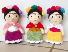 Frida Amigurumi Patron : Muñecas kokeshi amigurumi patrón gratis en español aquí