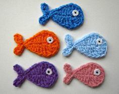 1pc 3.5 or 6 Crochet MITTEN Applique by PinkMeStudio on Etsy