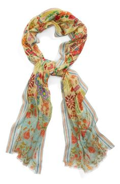 Spring must-have: lightweight print scarf.