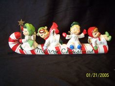 Vintage Lefton Christmas Angels Candy Cane Sleigh Ride Lefton Christmas Children. Just like mine!