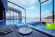 Patio enclosure with a pool in Korea