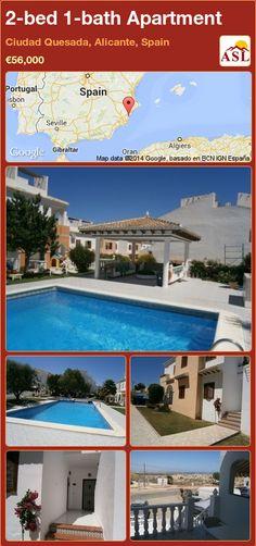 2-bed 1-bath Apartment in Ciudad Quesada, Alicante, Spain ►€56,000 #PropertyForSaleInSpain