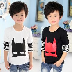 New Style Boys Cartoon Spring Tops Baby Child Fake 2pcs T shirt