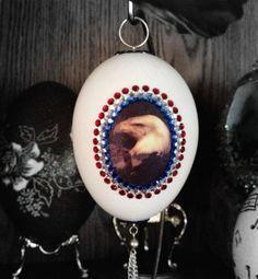 Egg Art Crying Eagle Goose Egg Decorated Egg by annimae182 on Etsy