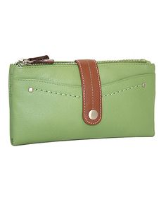 Loving this Nino Bossi Handbags Leaf Double-Zip Leather Wallet on #zulily! #zulilyfinds