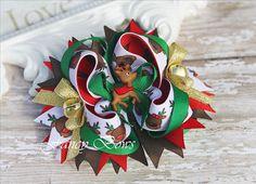 Reindeer Bow. Christmas.