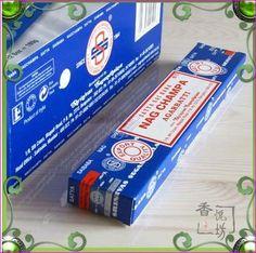 Indian SATYA Nag Champa India Stick Incense 5 boxes / 1 lot Total  75g Indian Handmade Stick /incense Sticks for Meditation