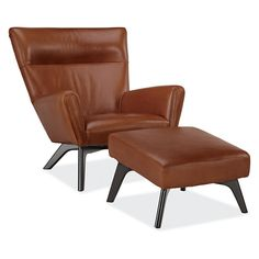 Boden Leather Chair & Ottoman - Recliners & Lounge Chairs - Living - Room & Board