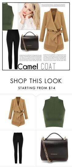 """""""Camel COAT"""" by esma-373 ❤ liked on Polyvore featuring WearAll, Silvana, River Island, Oris and Givenchy"""