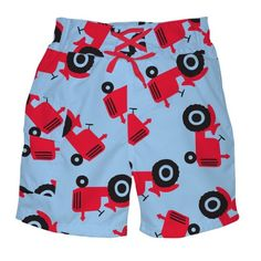 i play. Baby-Boys Infant Ultimate Swim Diaper Pocket Light Blue Tractor Trunk Short