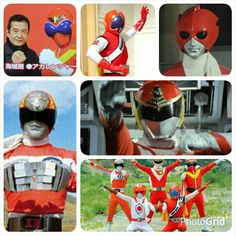 Super Sentai Grid - cinco primeiros red rangers
