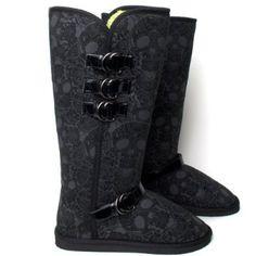 Iron Fist Motophyscho Girls Tall Fug Boot Black: Amazon.com: Clothing