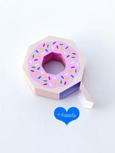 Doughnut treat box - free printable