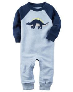 Baby Boy Heathered French Terry Jumpsuit from Carters.com. Shop clothing & accessories from a trusted name in kids, toddlers, and baby clothes.