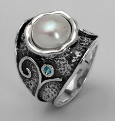 Shablool Didae Sterling Silver Ring Round от SilverLinningsJewels