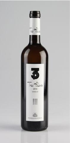 Tres Pilares Verdejo, 100% verdejo (D.O. Rueda, Bodega Tres Pilares) [septiembre 2016] Bottle, Shop, Wine, September, Wine Cellars, Wheels, Marseille, Organic Beauty, Products