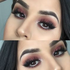 Decadent earth-toned eyeshadow shades are seamlessly blended to create this transfixing night out look. Check out this how-to and the makeup products suggested to DIY.