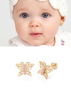Earring Baby بحث Google Earrings Kids Erfly