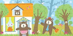 Three Bears Wood Illustration
