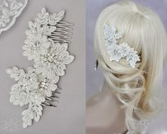 Braut haarschmuck spitze  Braut Haarschmuck Spitze Perlen Headpiece Blume | Braut ...