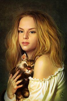Foto - Animali, disegni e dipinti, persone, Bionde, da Heri Irawan, ragazze e le donne