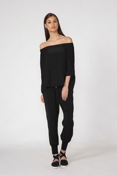 moochi charm top - spring 2016 COLLECTION Spring Tops, Spring 2016, Black Tops, Jumpsuit, Normcore, Charmed, Collection, Dresses, Style
