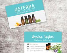 Essential Oils Business Card doterra Business Card Wellness