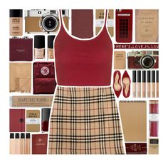 """""""Tartan"""" by xgracieeee ❤ liked on Polyvore featuring Leica, Gianvito Rossi, NARS Cosmetics, Retrò, i am a, Undercover, FOSSIL, Fjällräven, Muji and Armand Diradourian"""