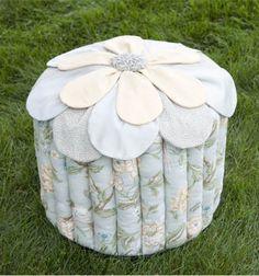 Flower Top Ottoman