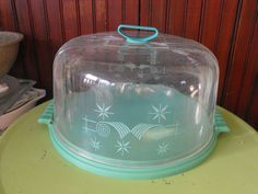 Vintage Mid Century Lustro Ware Locking Cake Cover by peacenluv72