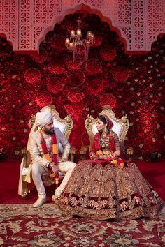 A Glam Delhi Wedding With Pin Worthy Outfits Indian Bridal Outfits, Indian Bridal Fashion, Indian Bridal Wear, Bridal Dresses, Prom Dresses, Indian Wedding Couple Photography, Indian Wedding Bride, Desi Wedding, Wedding Lehanga