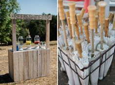 refreshment stand... SO easy to make. Summer project for sure to put out before the wedding :)