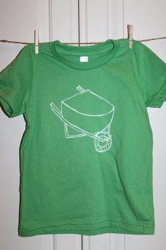 Children's ScreenPrinted Wheel Barrow T-Shirt by ThisLittlePiggyNWA, $22.00