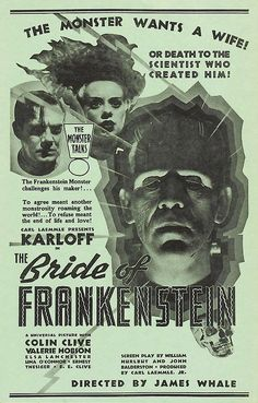 The Bride Of Frankenstein (1935) one of the Greatest Horror Classics from any Studio! IT'S A Universal Picture!!