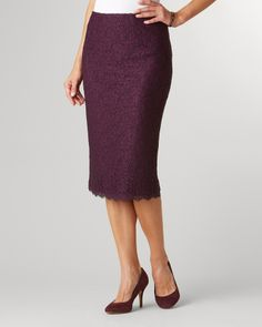 Coldwater Creek State of lace pencil skirt on shopstyle.com
