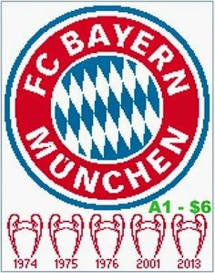 EASY PATTERNS: Bayern München Munich cross-stitch pattern