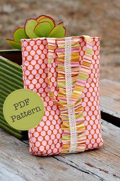 PDF Sewing Pattern for Ruffle Tote Bag Make and Sell DIY.