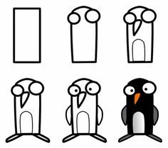 I could not create a cartoon penguin that is as adorable and cute as this one. Can you draw it?